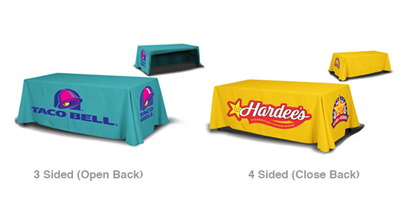 taco bell table throw, hardees table throw